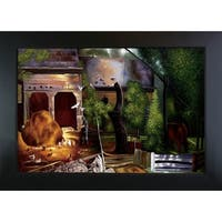 George Wesley Bellows 'Old Farmyard, Toodleums' Hand-painted Framed Canvas Art
