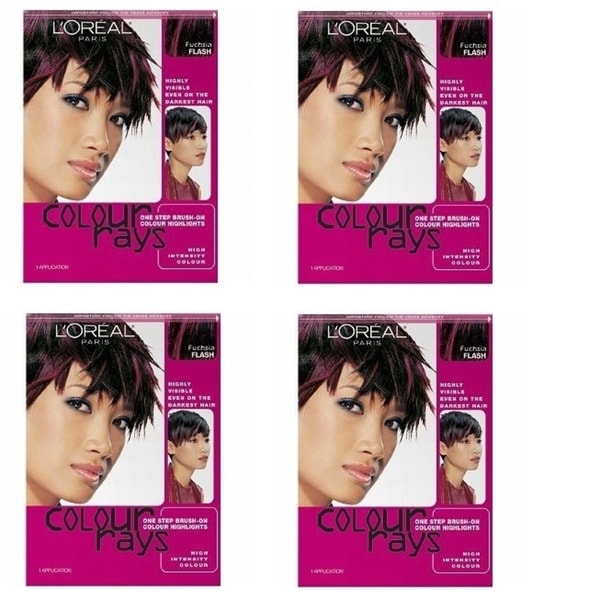 L'Oreal Colour Rays Brush-on Fuchsia Highlights (4 Pack)