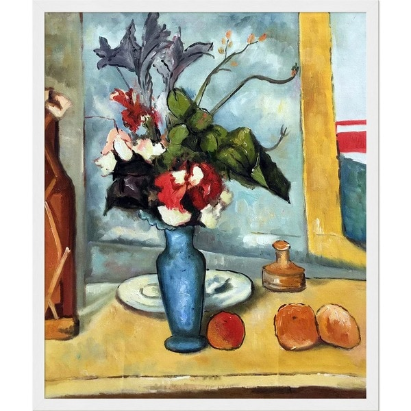 Shop Paul Cezanne Le Vase Bleu Hand Painted Framed Canvas Art