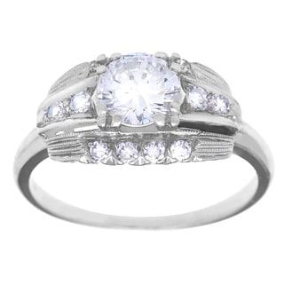 Pre-owned Platinum 1ct TDW Antique Engagement Ring (G-H, VS1-VS2)