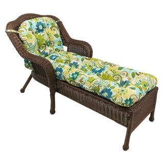 "Blazing Needles 69x21-inch U-shaped Outdoor Tufted Chaise Lounge Cushion - 69"" x 21"""