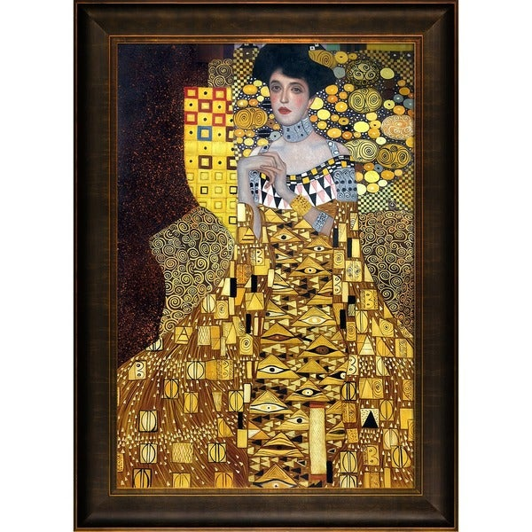 Gustav Klimt 'Portrait of Adele Bloch-Bauer 1, 1907' Hand-painted Framed Canvas Art