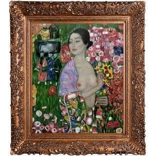 Gustav Klimt 'The Dancer' Hand-painted Framed Canvas Art