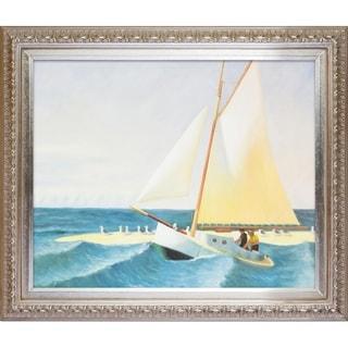 Edward Hopper 'The Martha McKean of Wellfleet' Hand-painted Framed Canvas Art
