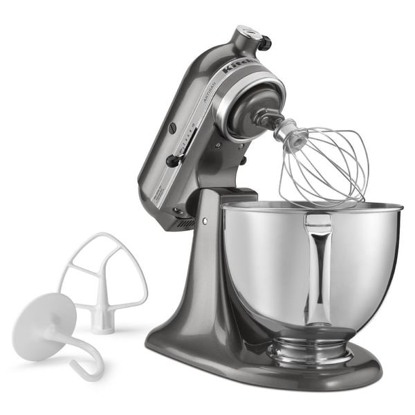 Shop Kitchenaid Rrk150qg Liquid Graphite 5 Quart Artisan Tilt Head