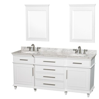 Wyndham Collection Berkeley 72-inch White Double Bathroom Vanity