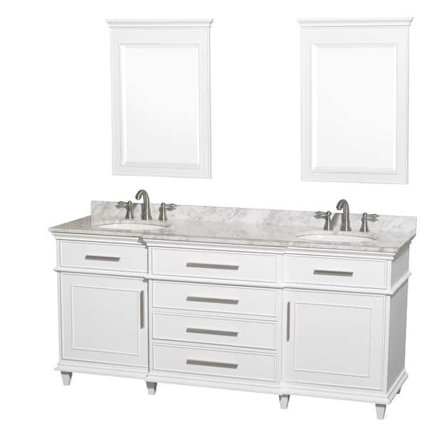 Wyndham Collection Berkeley 72 Inch White Double Bathroom Vanity Overstock 8754990