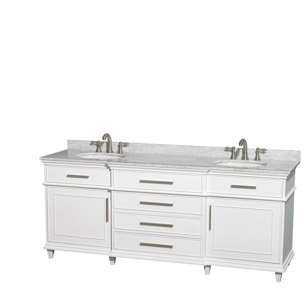 Wyndham Collection Berkeley White 80 Inch Double Bathroom Vanity Overstock 8754991