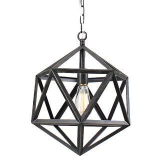 Multangular Iron 1-light Antique Bronze Chandelier