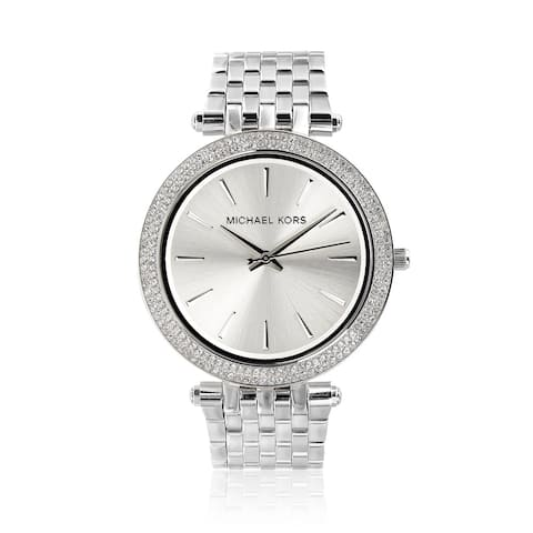 Michael Kors Women's MK3190 'Darci' Stainless Steel Crystal Watch - White