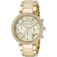 fd749f18e Michael Kors Women's MK5632 'Parker' Chronograph Goldtone Watch ...