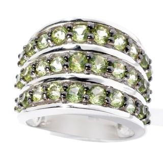 Sterling Silver Peridot Fashion Band Ring