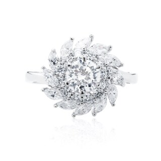 Blue Box Jewels Rhodium-plated 925 Sterling Silver Premium EQ Star CZ Whirlwind Statement Ring|https://ak1.ostkcdn.com/images/products/8755106/P15998715.jpg?_ostk_perf_=percv&impolicy=medium