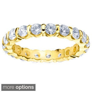 Amore 14k Gold 2ct TDW Machine-set Diamond Eternity Wedding Band (H-I, I1-I2)