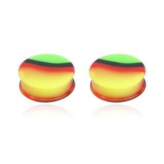 Supreme Jewelry Rasta Colored Plugs (Pair)