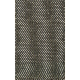 Hand-woven Natural Black Jute Rug (3'6 x 5'6)