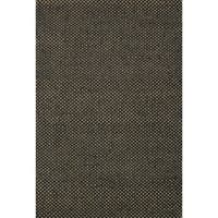 Hand-woven Black/ Natural Jute Area Rug - 5' x 7'6""