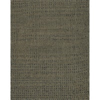 Hand-woven Natural Black Jute Rug - 7'9 x 9'9