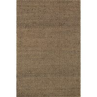 Hand-woven Natural Brown Jute Rug - 5' x 7'6