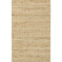 Hand-woven Natural Beige Jute Rug - 3'6 x 5'6
