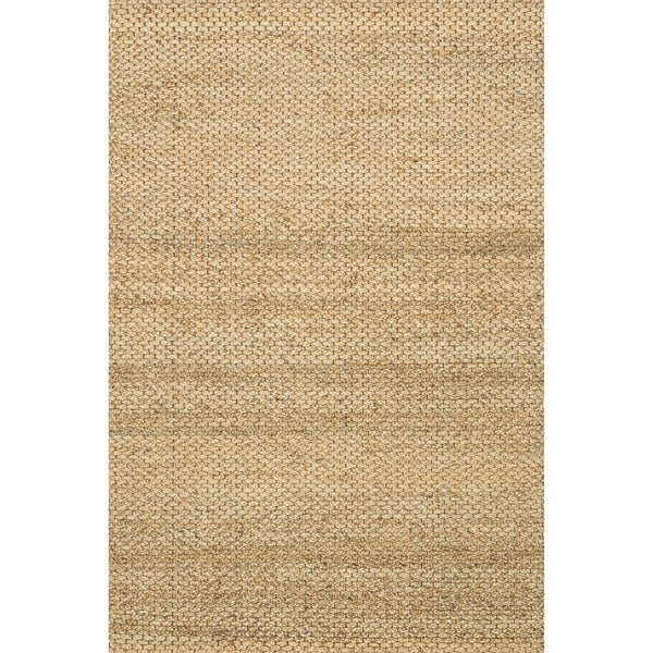 Hand-woven Natural Beige Jute Rug - 5' x 7'6