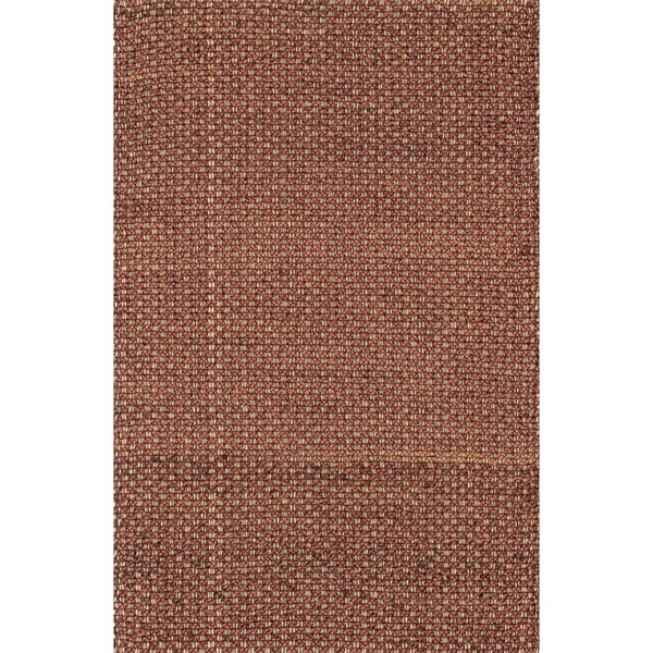 "Hand-woven Natural Rust Jute Rug - 3'6"" x 5'6"""