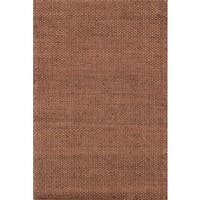 Hand-woven Natural Rust Jute Area Rug - 5' x 7'6