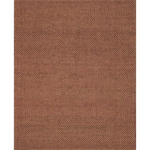 "Hand-woven Natural Rust Jute Rug - 7'9"" x 9'9"""