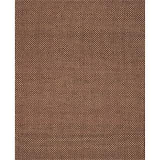 Hand-woven Natural Rust Jute Rug (9'3 x 13)