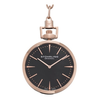Stuhrling Original Men's Pedigree Swiss Quartz Pocket Watch
