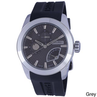 Haurex Italy Men's Magister Black Silicone Day Date Watch (Option: Grey)