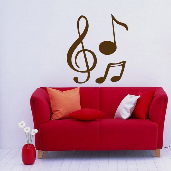 Shop treble clef music notes wall art vinyl decal stickers - Over the garden wall soundtrack vinyl ...