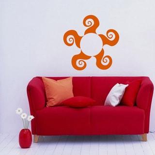 Round Ornament Orange Pattern Vinyl Wall Decal