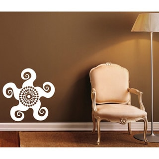 Round Ornament White Pattern Vinyl Wall Decal