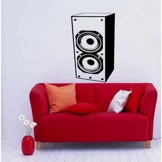 Black Speaker Musical Vinyl Wall Decal
