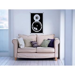 Large Speaker Black Front Musical Vinyl Wall Decal