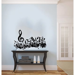 Notes Waves Confused Musical Treble Clef Wall Vinyl Decal