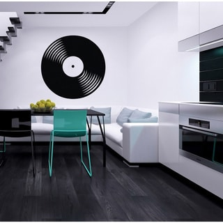 Vinyl Record Musical Black Vinyl Wall Decal