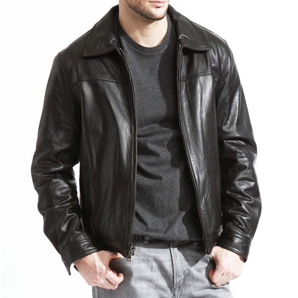 Tanners Avenue Men's Genuine Lambskin Leather Jacket - Free ...