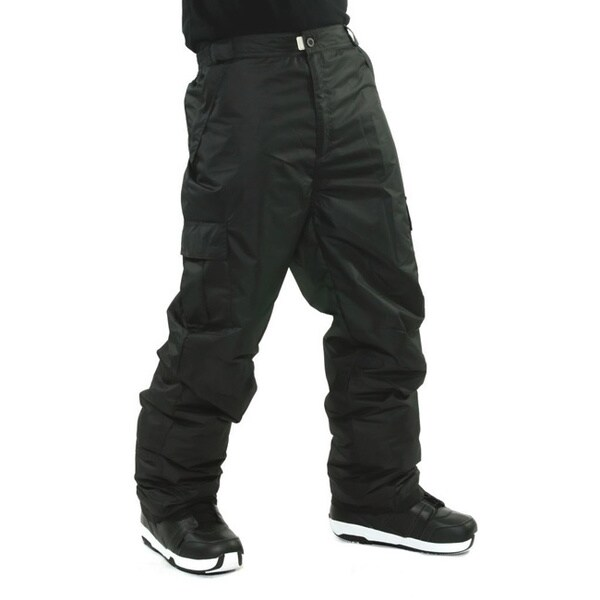 Pulse Men's 'Cargo' Black Snowboard Pants