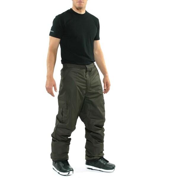 Pulse Men's 'Cargo' Chocolate Snowboard Pants