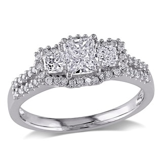 Miadora Signature Collection 14k White Gold 1ct TDW IGL-certified Diamond Ring