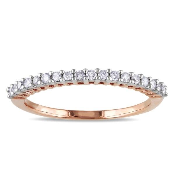 Miadora 14k Rose Gold 1/5ct TDW Diamond Anniversary Ring (G-H, I1-I2)