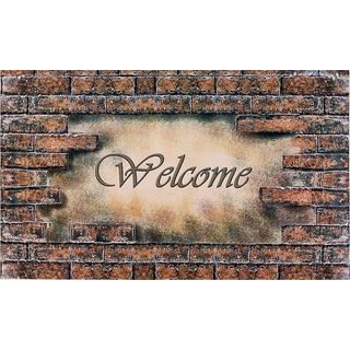 Achim Welcome Bricks Outdoor Rubber Entrance Mat (1.5' x 2.5)