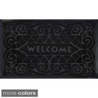 Achim Wrought Iron Recycled Rubber Welcome Mat (18 x 30-inch)