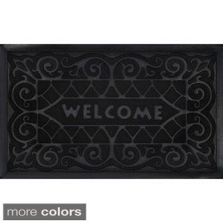 Achim Wrought Iron Recycled Rubber Welcome Mat (18 x 30-inch) (3 options available)