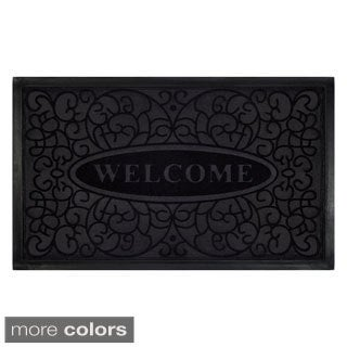 Achim Swirl Recycled Rubber Welcome Mat (18 x 30-inch)
