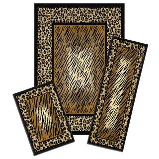Achim Capri 3-piece Leopard Skin Rug Set