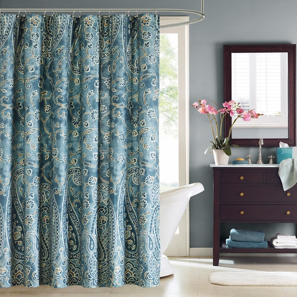 Shop Windsor Paisley Cotton Shower Curtain On Sale