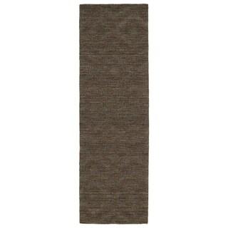 Trends Chocolate Brown Phoenix Wool Rug (2'6 x 8')
